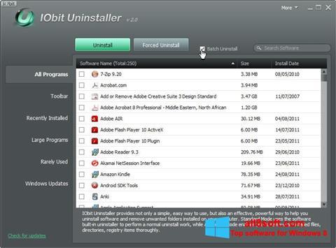 Screenshot IObit Uninstaller per Windows 8