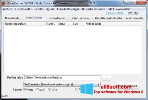 Screenshot aTube Catcher per Windows 8