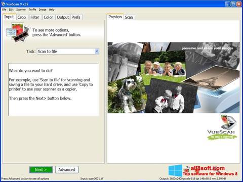 Screenshot VueScan per Windows 8