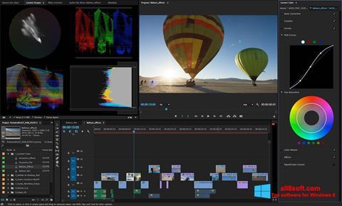 Screenshot Adobe Premiere Pro per Windows 8