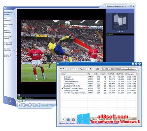 Screenshot SopCast per Windows 8