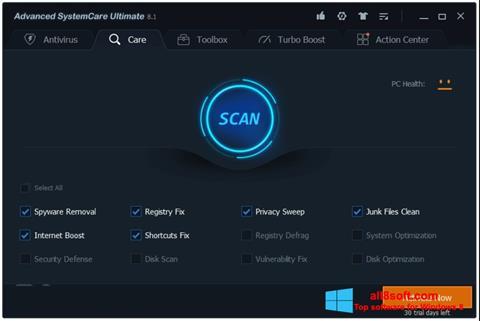 Screenshot Advanced SystemCare per Windows 8