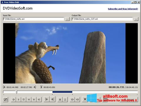 Screenshot Free Video Dub per Windows 8