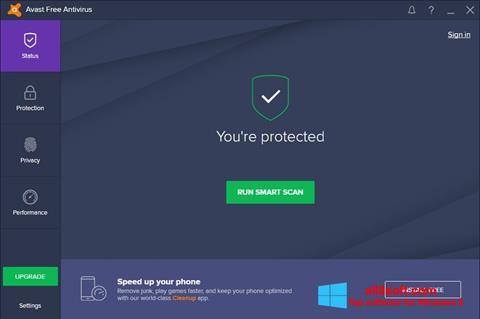 Screenshot Avast Free Antivirus per Windows 8
