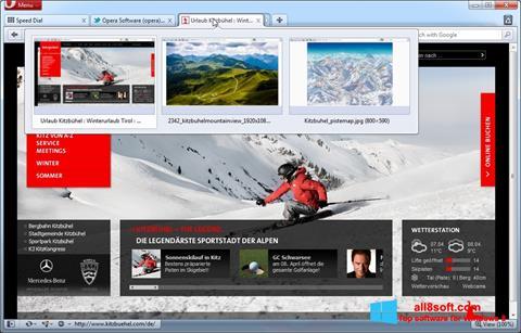 Screenshot Opera per Windows 8