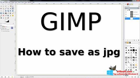 Screenshot GIMP per Windows 8