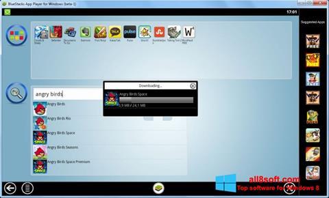 Screenshot BlueStacks per Windows 8