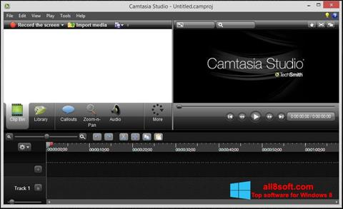 Screenshot Camtasia Studio per Windows 8
