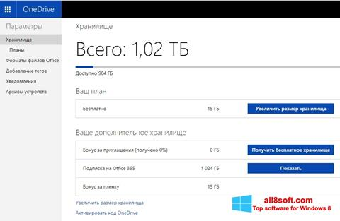 Screenshot OneDrive per Windows 8