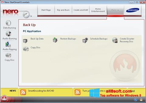 Screenshot Nero per Windows 8